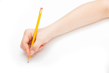 writing with a pencil