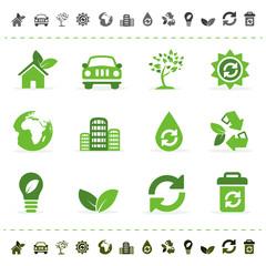 conjunto de iconos web ecológicos