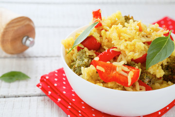 rice with roasted red pepper