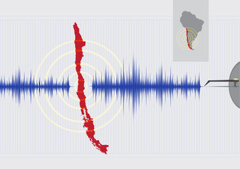 Chile Earthquake Concept Vector EPS10 and raster