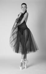 Ballet dancer posing