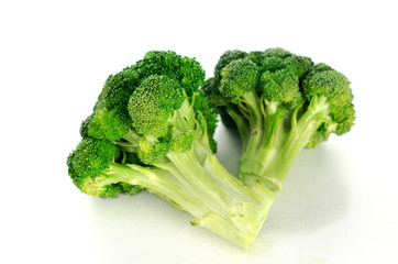 isolated broccoli in white background