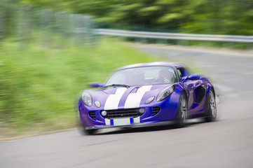 Sport car with panning effect