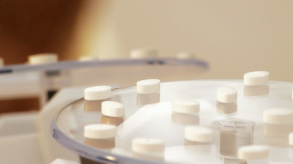 Medical pills and tablets rotating