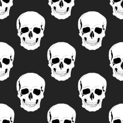 Seamless skulls pattern