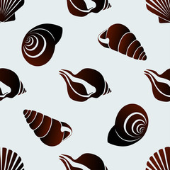 Seamless seashells pattern