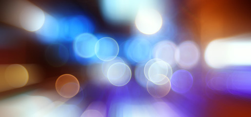 bokeh city lights blurred background effect