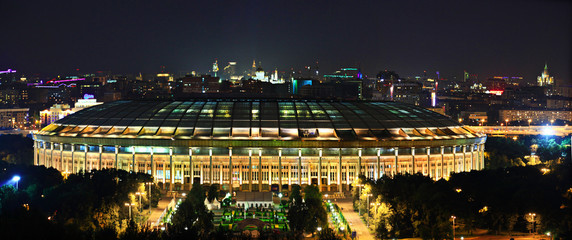 panoramic view of the city nightlife