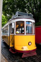 the yellow tram