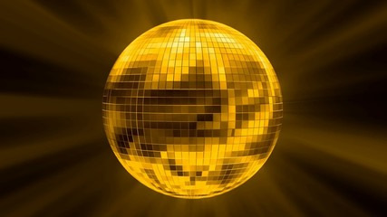 HD Rotating disco ball