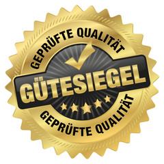 Gütesiegel - geprüfte Qualität - Goldvignette