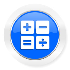 calculator blue glossy web icon