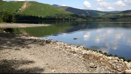 Derwent Water and Catbells mountains Lake District UK