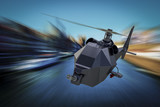 WarDrone Copter - Unmanned Aerial Vehicle drone in flight poster