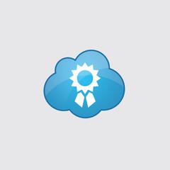 Blue cloud achievement icon