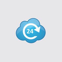 Blue cloud 24 hours service icon