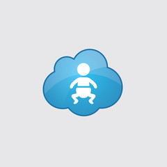 Blue cloud baby icon