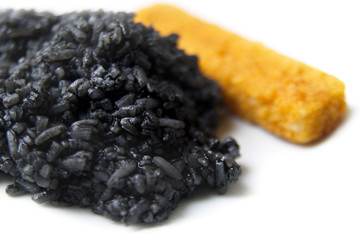 Black Rise And Orange Fish Stick