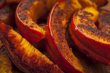 Roasted pumpkin close up
