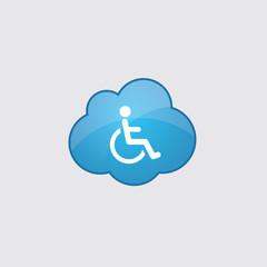 Blue cloud cripple icon.
