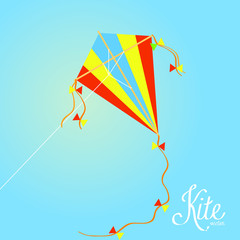 Colorful Kite Isolated On Background