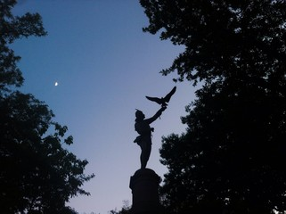 Falconer statue in Central Park