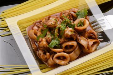 Calamares Loligo vulgaris Calamari Squid Calmars Kalmare