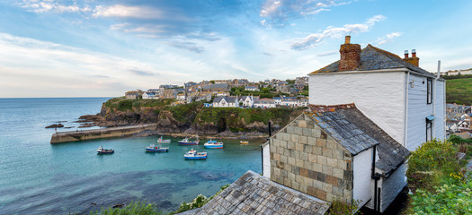 Evening at Port Isaac in Cornwall