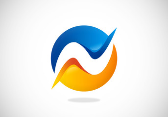 wave abstract balance vector logo