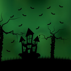 Cartoon Halloween Background Editable With Space For Text