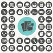 Document icons set. Illustration eps10