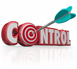 Control Word Arrow Target Bull's Eye Command Position Leadership