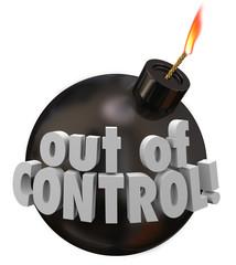 Out of Control Bomb Failure Trouble Problem Bad Mismanagement