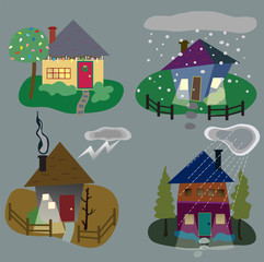 Winter Home icons