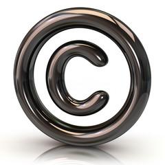 Silver copyright icon
