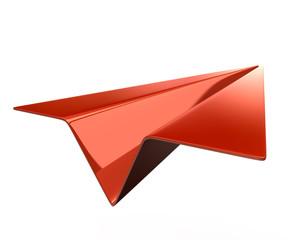 Orange paper plane Icon