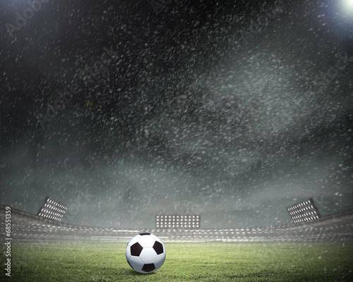 Foto op Canvas Stadion Soccer ball