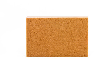 A clean sponge on white background