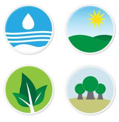 Green flat icons