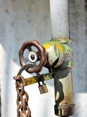 old rusty  valve