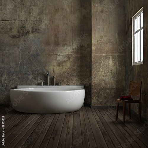 canvas print picture Vintage bathroom