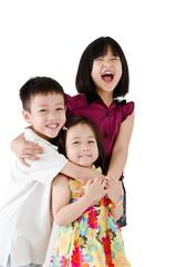 Portrait of asian kids