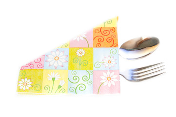napkin and the cutlery