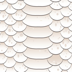 Snake skin texture. Seamless pattern white background. Vector