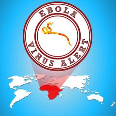 ebola virus alert in Africa - eps10 vector