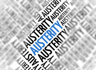 Modern marketing background - Austerity