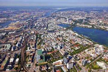 Hamburg von oben, Luftaufnahme