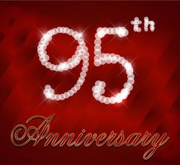 95 year happy birthday sparkles card, 95th anniversary
