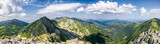 Panorama from the mountain top - West Tatras, Slovakia
