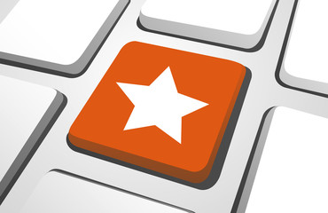 Close-Up Of Orange Favourite Computer Icon